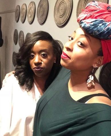 Brittni Kellom with Monica Blaire